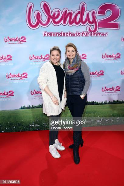 Caroline Frier and Annette Frier attend the premiere of 'Wendy 2 Der Film' at Cinedom on February 4 2018 in Cologne Germany