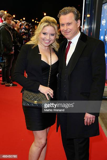 Caroline Frier and Dirk Borchardt attend the 19th Annual German Comedy Awards at Coloneum on October 20 2015 in Cologne Germany