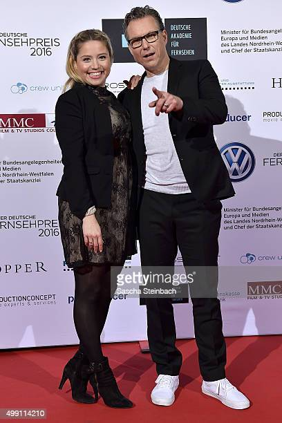 Caroline Frier and Dirk Borchardt attend the German television award by the Deutsche Akademie fuer Fernsehen at Museum Ludwig on November 28 2015 in...