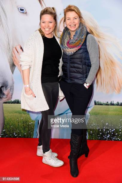 Caroline Frier and her sister Annette Frier during the premiere of 'Wendy 2 Freundschaft fuer immer' at Cinedom on February 4 2018 in Cologne Germany