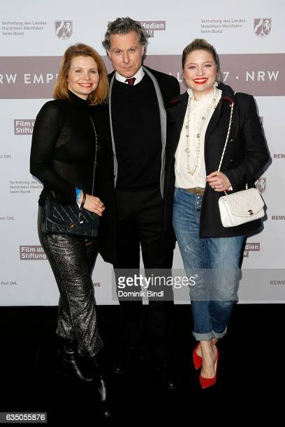 Caroline Frier Dirk Borchardt and Caroline Frier attend the NRW Reception at the Landesvertretung during the 67th Berlinale International Film...