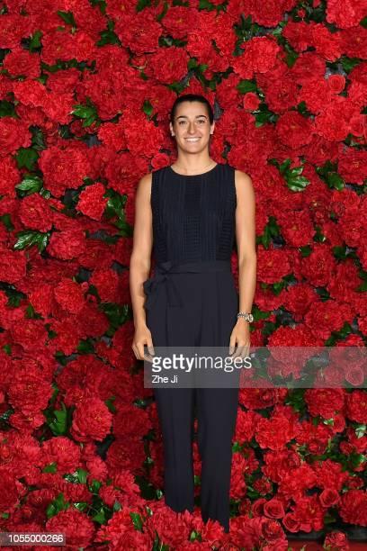 Caroline Garcia of France attends the players's party of the Hengqin Life 2018 WTA Elite Trophy Zhuhai at Sheraton Hotel Zhuhai Huafa on October 29...