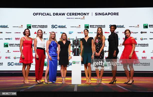 Caroline Garcia of France Caroline Wozniacki of Denmark Elina Svitolina of Ukraine Simona Halep of Romania Garbine Muguruza of Spain Karolina...