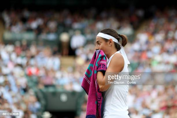 Caroline Garcia of France during her match against Johanna Konta of Great Britain in the Ladies' Singles round of 16 on NO1 Court during the...