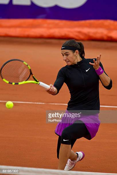 Caroline Garcia returns a shot on May 16 in Strasbourg France at the Strasbourg International First major event of the French women's tennis on clay...