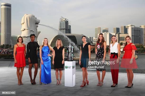 Caroline Garcia Venus Williams Elina Svitolina Simona Halep Garbine Muguruza Karolina Pliskova Caroline Wozniacki and Jelena Ostapenko the 2017 BNP...