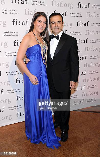 Caroline Ghosn and Carlos Ghosn attend the 2013 Trophee des Arts gala at 583 Park Avenue on November 15 2013 in New York City