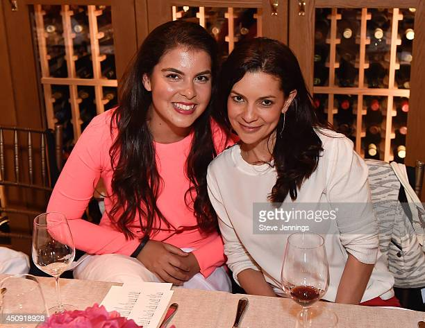 Caroline Ghosn and Catalina Girald attend the GLAM Founders Innovators Dinner at The Battery on June 19 2014 in San Francisco California