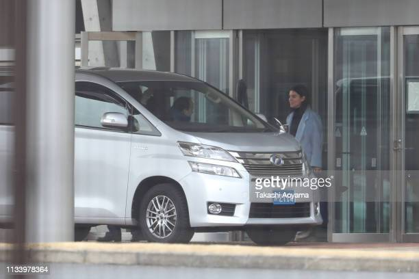 Caroline Ghosn daughter of Carlos Ghosn leaves the Tokyo Detention House on March 06 2019 in Tokyo Japan Carlos Ghosn was released from the Tokyo...