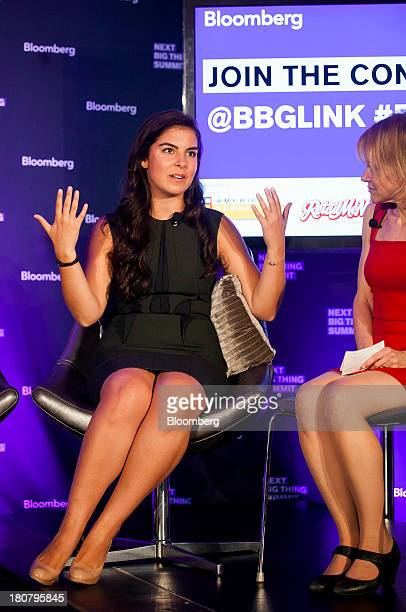 Caroline Ghosn founder and chief executive officer of Levo League left speaks at the Bloomberg Next Big Thing Summit in New York US on Monday Sept 16...