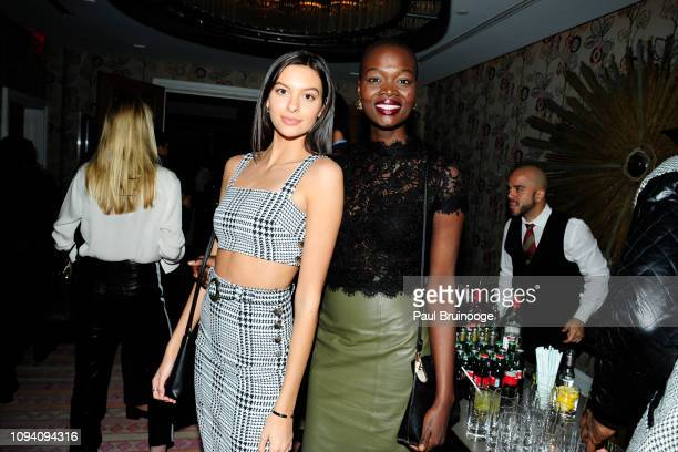 Caroline Gill and Aluad Anei attend Paramount Pictures Hosts A Special Screening Of What Men Want at Crosby Street Hotel on February 4 2019 in New...