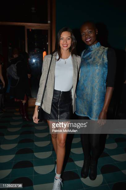 Caroline Gill and Aluad Anei attend Samuel Goldwyn Films With The Cinema Society Host The After Party For Mapplethorpe at The Fleur Room on February...