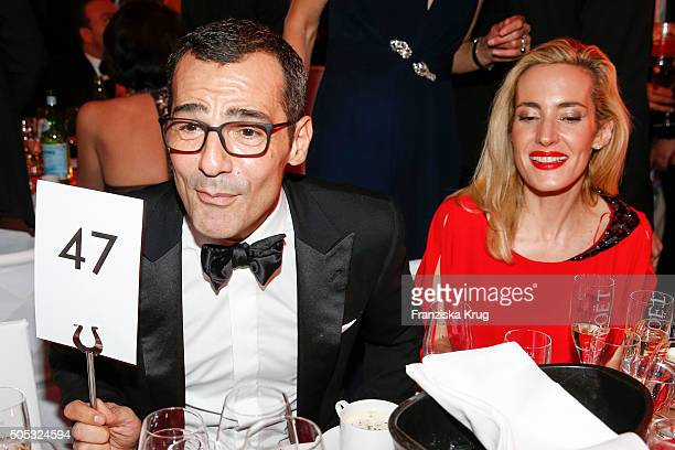 Caroline Goddet and Erol Sander during the German Film Ball 2016 at Hotel Bayerischer Hof on January 16 2016 in Munich Germany