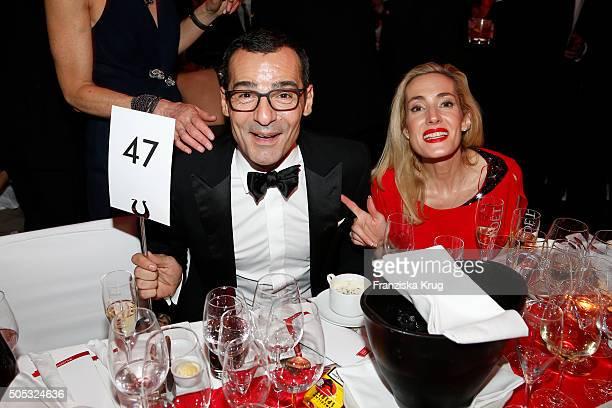 Caroline Goddet and Erol Sander during the German Film Ball 2016 at Hotel Bayerischer Hof on January 16 2016 in Munich Germany
