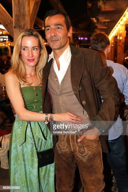 Caroline Goddet and her husband Erol Sander during the Oktoberfest at Kaeferschaenke at Theresienwiese on September 20 2016 in Munich Germany