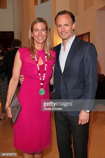 Caroline Graefin von Waldburg and her husband Constantin von Dalwigk zu Lichtenfels during the presentation of the book 'Zu Gast in Griechenland...