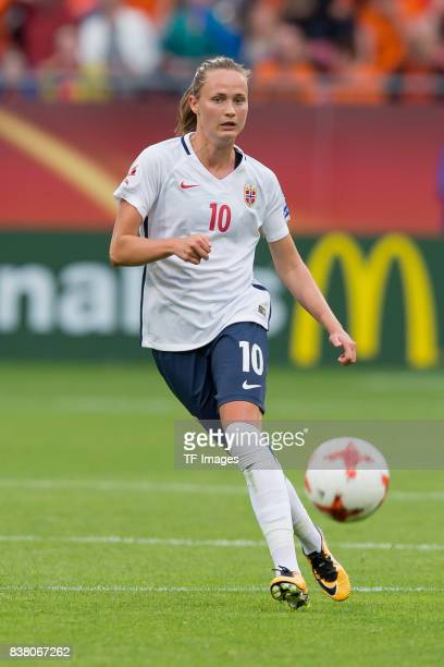 Caroline Graham Hansen of Norway controls the ball during their Group A match between Netherlands and Norway during the UEFA Women's Euro 2017 at...