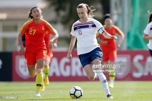 Caroline Graham Hansen of Norway Women during the Algarve Cup Women match between China PR v Norway at the Estadio Municipal de Albufeira on March 1,...