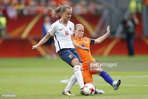 Caroline Graham Hansen of Norway women Mandy van den Berg of Holland Women during the UEFA WEURO 2017 Group A group stage match between The...