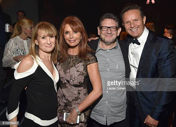 Caroline Grainge actress Roma Downey CBE Chairman CEO Lucian Grainge and producer Mark Burnett attend Universal Music Group 2016 Grammy After Party...