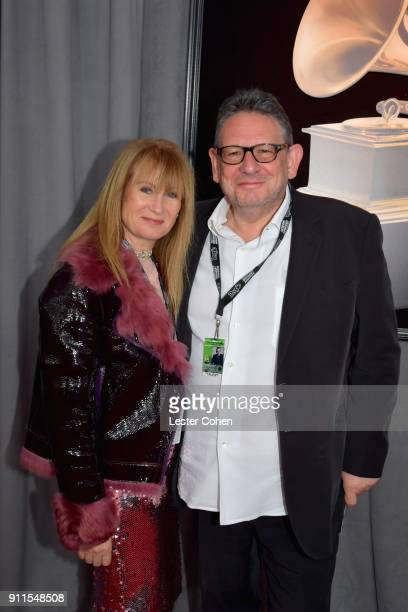 Caroline Grainge and Chief Executive Officer of Universal Music Group Lucian Grainge attends the 60th Annual GRAMMY Awards at Madison Square Garden...