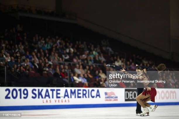Caroline Green and Michael Parsons of the United States perform during ice dance free dance in the ISU Grand Prix of Figure Skating Skate America at...