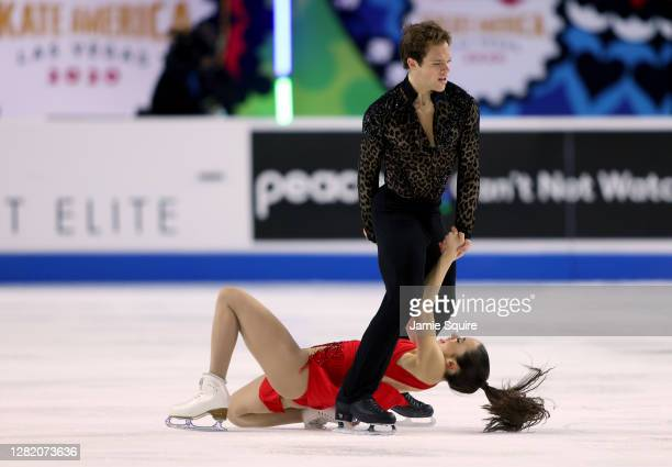 Caroline Green and Michael Parsons of the USA compete in the Ice Dance Free Skating program during the ISU Grand Prix of Figure Skating at the...