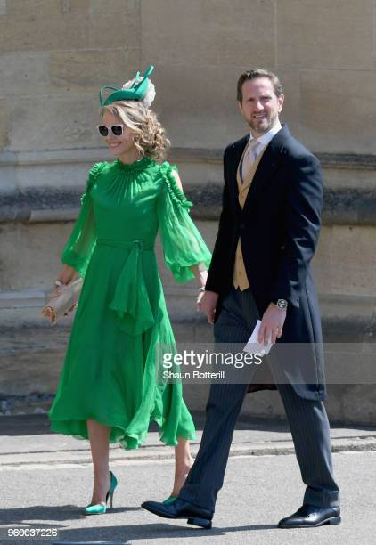 Caroline Greenwood and Will Greenwood attend the wedding of Prince Harry to Ms Meghan Markle at St George's Chapel Windsor Castle on May 19 2018 in...