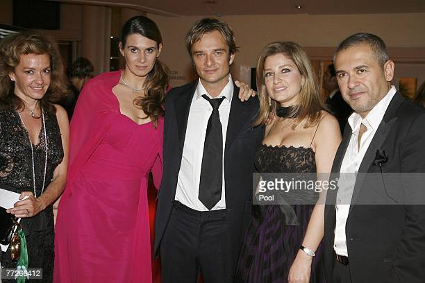 Caroline Gruosi Scheufele Alexandra Pastor David Hallyday Elie Saab and wife Claudine attend the International Rendez Vous Cinema Verite 2007 Gala...