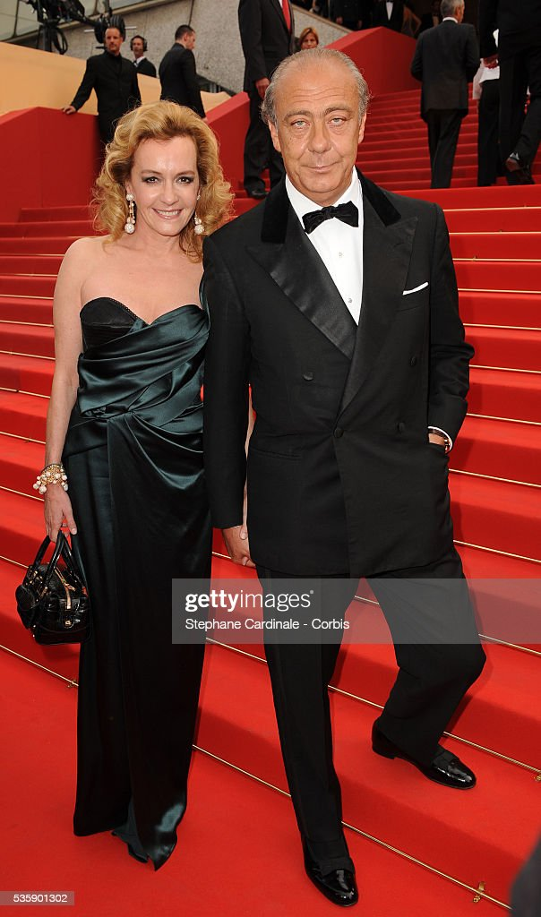 Caroline Gruosi-Scheufele and Fawaz Gruosi at the premiere of ?Robin Hood? during the 63rd Cannes International Film Festival.