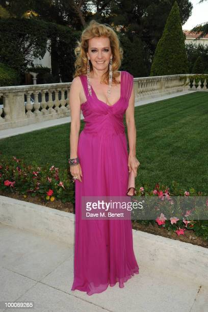Caroline GruosiScheufele arrives at amfAR's Cinema Against AIDS 2010 benefit gala at the Hotel du Cap on May 20 2010 in Antibes France