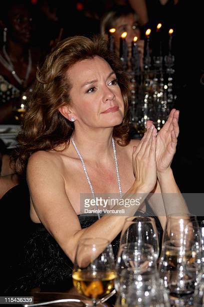 Caroline GruosiScheufele attends the amfAR's Inaugural Cinema Against AIDS Rome auction held at the Spazio Etoile on October 26 2007 in Rome Italy