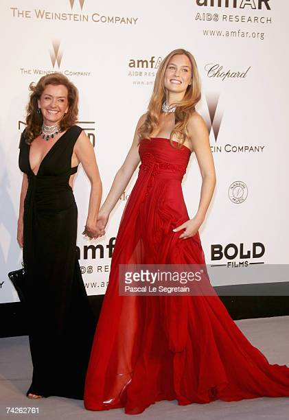 Caroline GruosiScheufele the Vice President of Chopard and model Bar Refaeli arrives at amfAR's Cinema Against AIDS 2007 at Le Moulin de Mougins on...