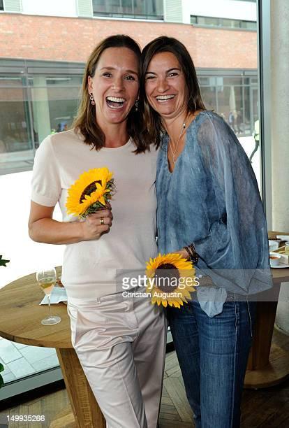 Caroline Hamann and Inka Schneider attend DKMS Life Charity Ladies Lunch at Restaurant La Baracca on August 7 2012 in Hamburg Germany
