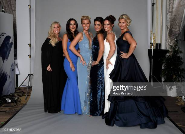 Caroline Harrington Diane Donald Grace Barber Kristin McDowell Helen Storey and Ebba Karlsson pose for a portrait before the Gala Dinner prior to the...
