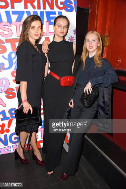 Caroline Hartig Lisa Vicari and Gina Alice Stiebitz attend the Stella McCartney X UZWEI Spring/Summer 2019 Collection Launch Party at Gruenspan Club...