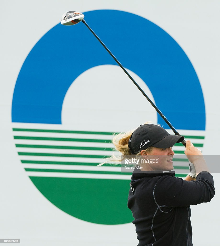Caroline Hedwall of Sweden tees off on the first hole, during day three of the Sunrise LPGA Taiwan Championship on October 26, 2013 in Taoyuan, Taiwan.
