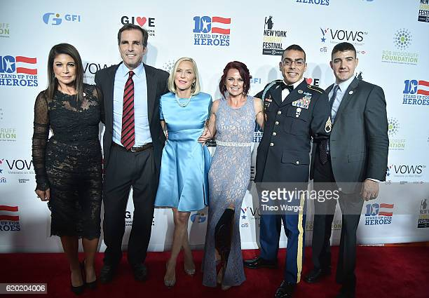 Caroline Hirsch Bob Woodruff Lee Woodruff Sarah Rudder Michael Kacer Larkin O'Hern attend 10th Annual Stand Up For Heroes at The Theater at Madison...