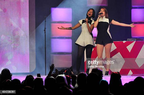 Caroline Hjelt and Aino Jawo and Icona Pop perform at Much Presents: The Big Jingle on December 7, 2013 in Toronto, Canada.