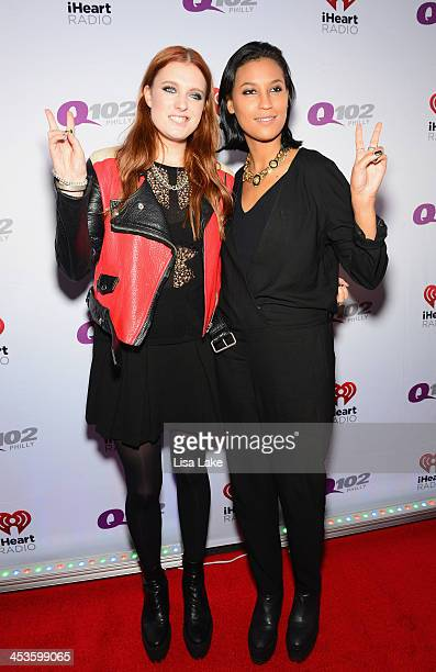 Caroline Hjelt and Aino Jawo from Icona Pop attend Q102's Jingle Ball 2013 presented by Bernie Robbins Jewelers at Wells Fargo Center on December 4...