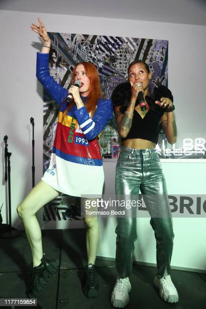 Caroline Hjelt and Aino Jawo of Icona Pop perform onstage at the AllBright West Hollywood Grand Opening Party on September 25, 2019 in West...
