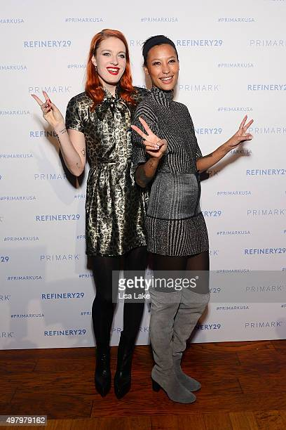 Caroline Hjelt and Aino Jawo, singers of Icona Pop attend at The Keke Palmer & Refinery29 Host Club Primania Event at Skybox Event Center on November...