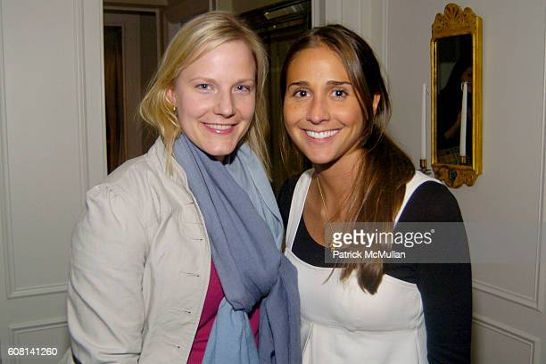 Caroline Huddleston and Kristin Runco attend MICHAEL S SMITH AGRARIA COLLECTION LAUNCH at Lowell Hotel on April 18 2007