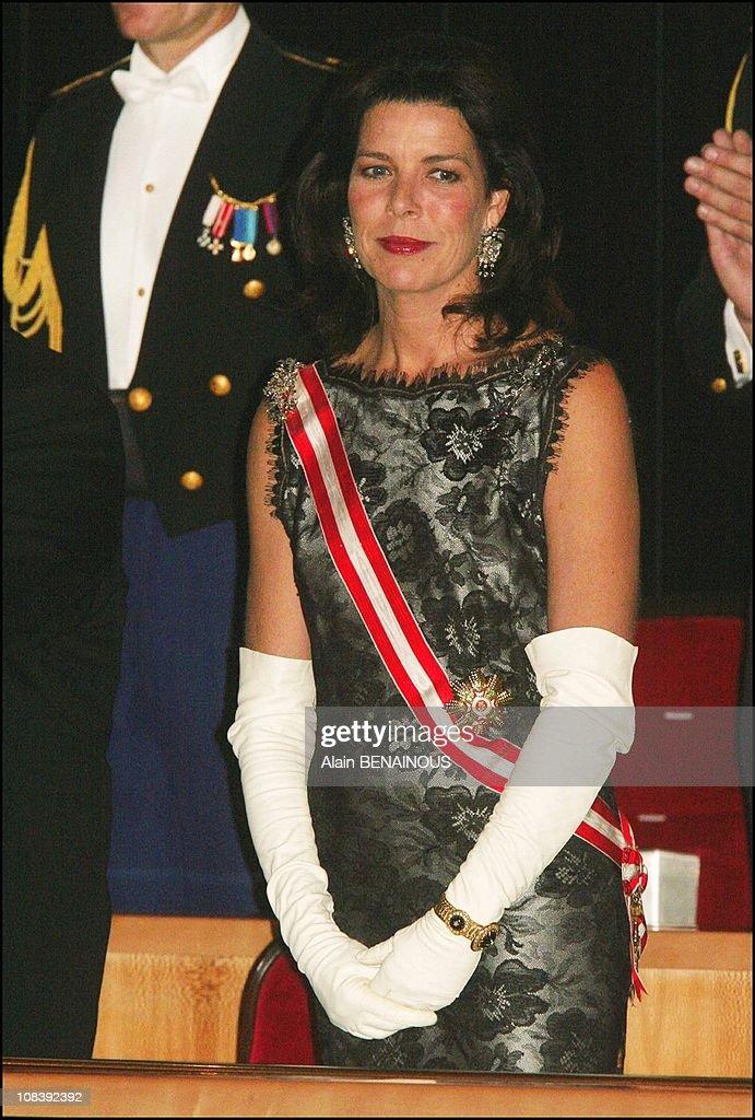 National Day In Monaco, Gala Evening At Grimaldi Forum In Monaco On November 19, 2003. : News Photo