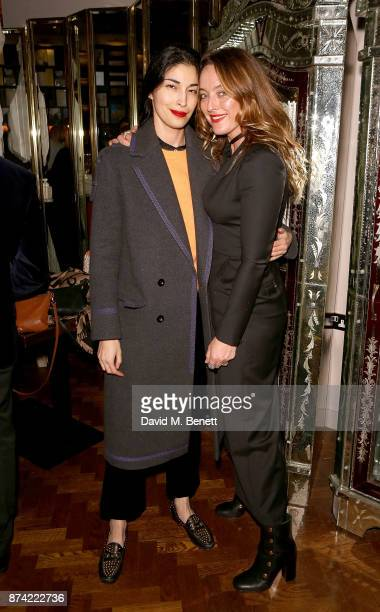Caroline Issa and Alice Temperley attend 'The Spirit of Bentley Be Extraordinary' book launch on November 14 2017 in London United Kingdom