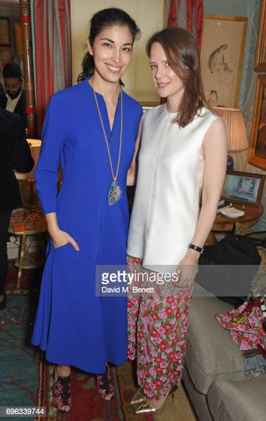 Caroline Issa and Arabella Musgrave attend an intimate dinner hosted by Alice NaylorLeyland for friends to celebrate her Garden Rose Cologne...
