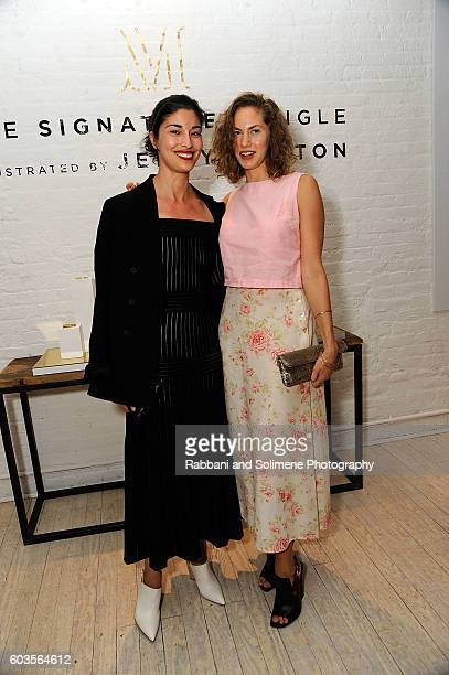 Caroline Issa and Emma Ferrer attends an evening hosted by Monica Vinader to celebrate Fashion Artist Jenny Walton's illustrations of the iconic...