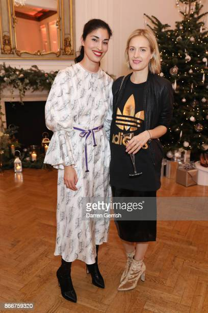 Caroline Issa and Polly Morgan attend THE OUTNET in Residence with Caroline Issa at One Belgravia on October 25 2017 in London England