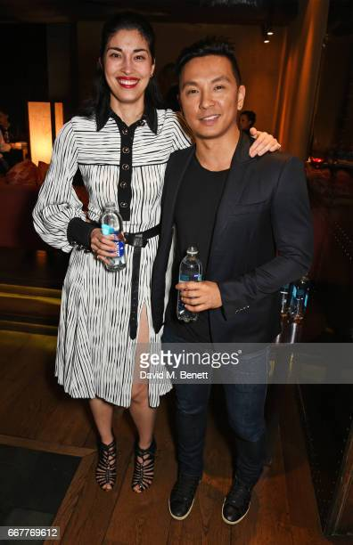 Caroline Issa and Prabal Gurung attend their dinner at Shochu Lounge at ROKA to celebrate the arrival of Spring 2017 at Selfridges with SmartWater on...