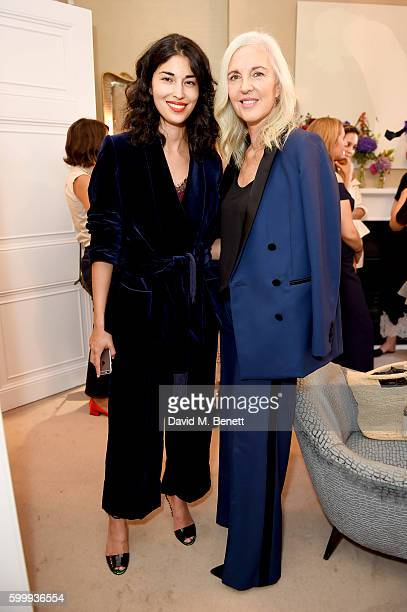 Caroline Issa and Ruth Chapman attend a cocktail reception hosted by RACIL and MATCHESFASHIONCOM to celebrate the launch of Racil AW16 Collection on...